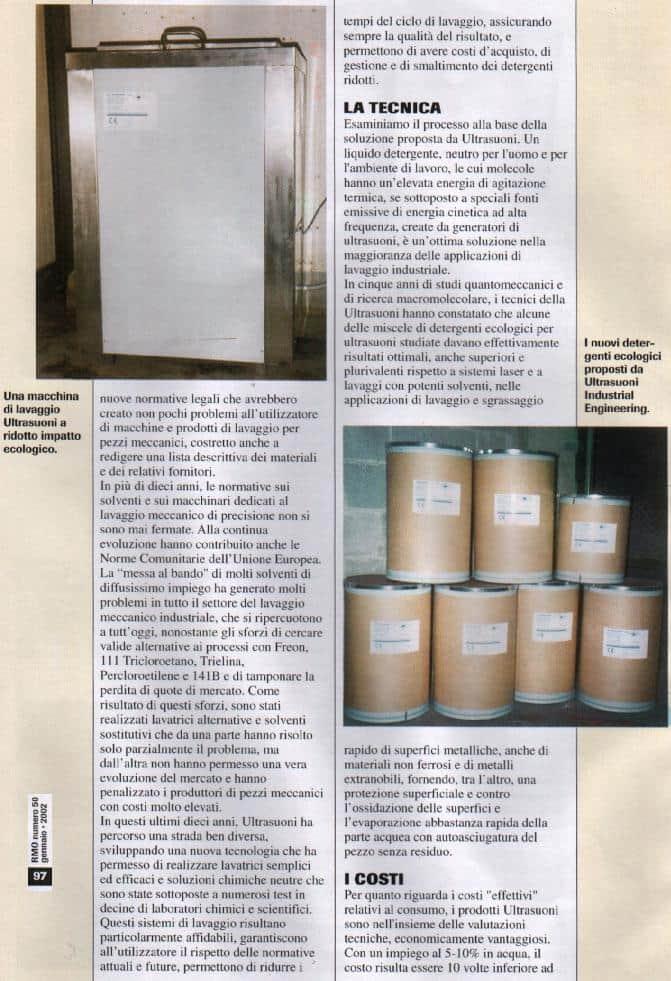 Prodotti ecologici e detergenti per la pulizia con ultrasuoni
